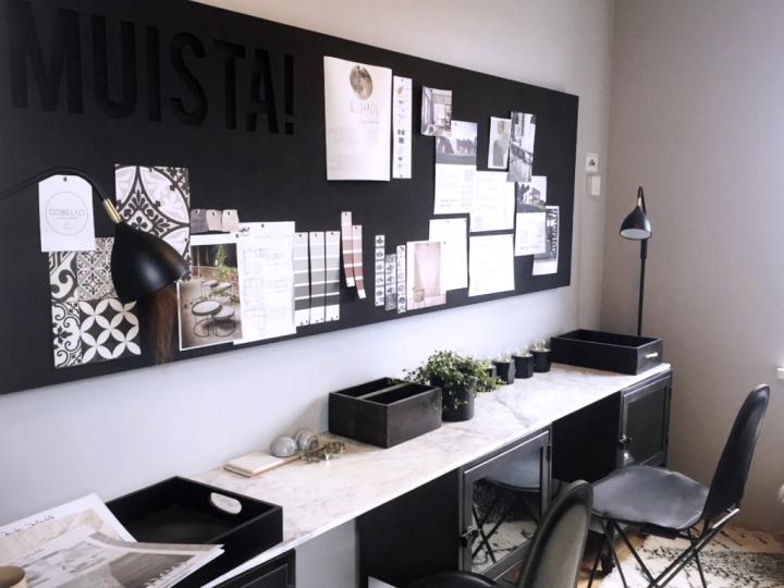 Työhuoneen sisustus