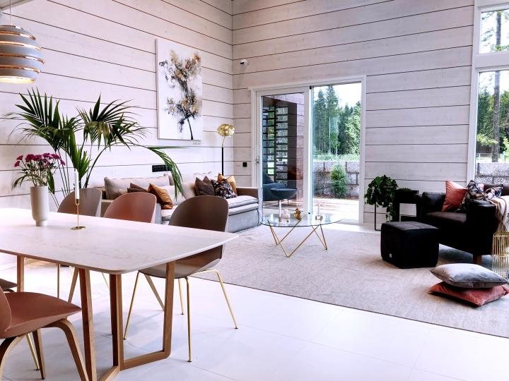 Makuuhuone- ja olohuonetrendejä Asuntomessuilla